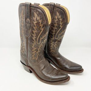 OLD WEST | Brown Leather Cowboy Boots